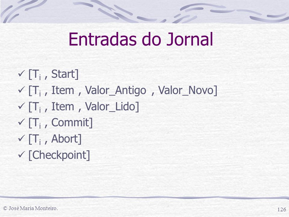 Entradas do Jornal [Ti , Start]